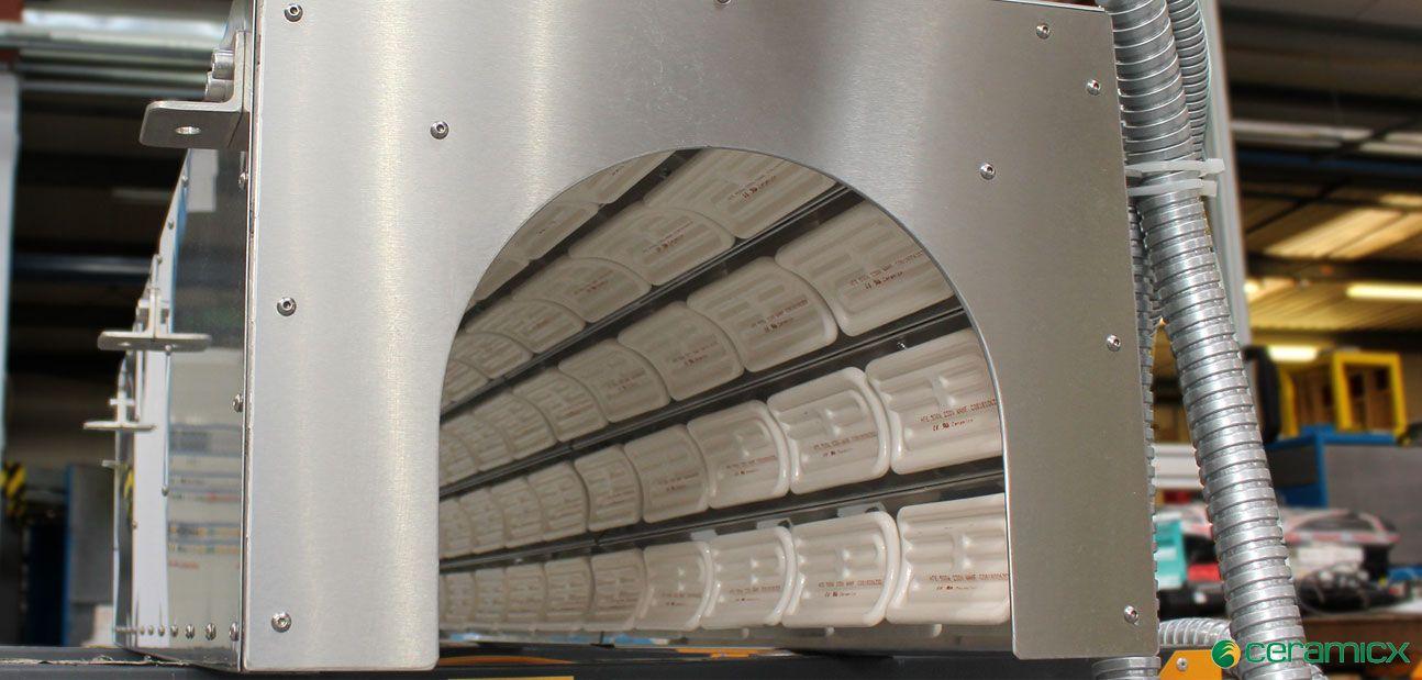 PVC管道软化加热,红外陶瓷加热系统